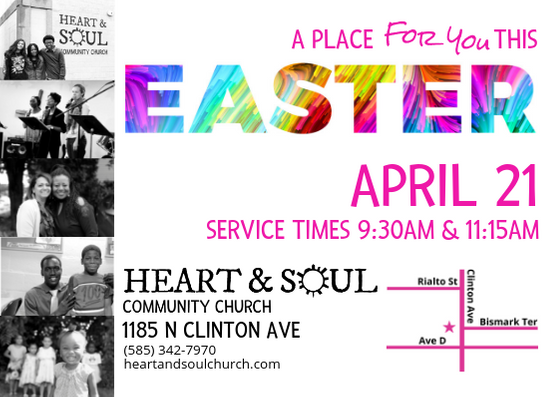 Easter Services on April 21, 9:30 and 11:15